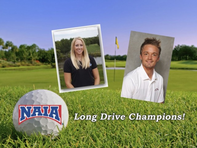 GPAC Golf Duo Claim NAIA Long Drive Contest Titles