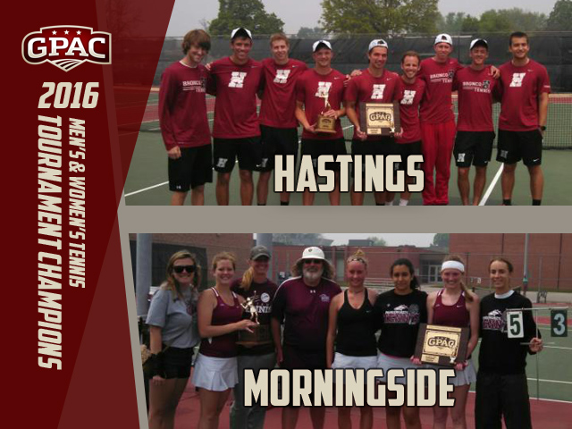 Photo for Morningside Women, Hastings Men Claim GPAC Tennis Titles