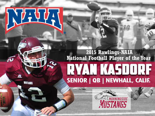Photo for Morningside's Ryan Kasdorf Named NAIA Football Player-of-the-Year
