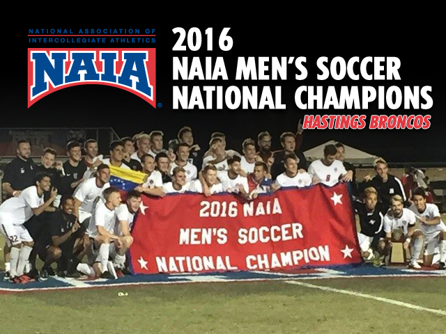 Photo for Hastings Men's Soccer Wins NAIA National Championship!