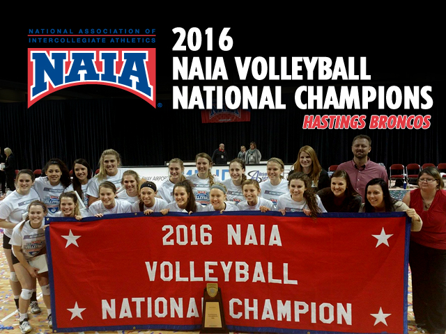 Photo for Hastings Wins 2016 NAIA Volleyball National Championship!