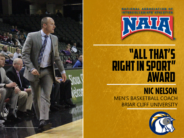 "Photo for Briar Cliff's Nelson Earns ""All That's Right in Sport"" Award"