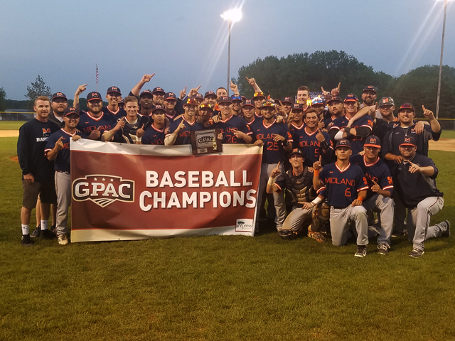 Photo for Midland Claims 2017 GPAC Baseball Tournament Title