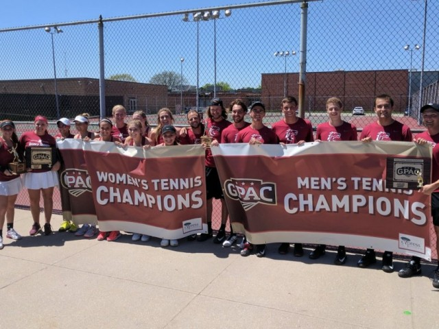 Photo for Hastings Sweeps GPAC Tennis Tournament Titles