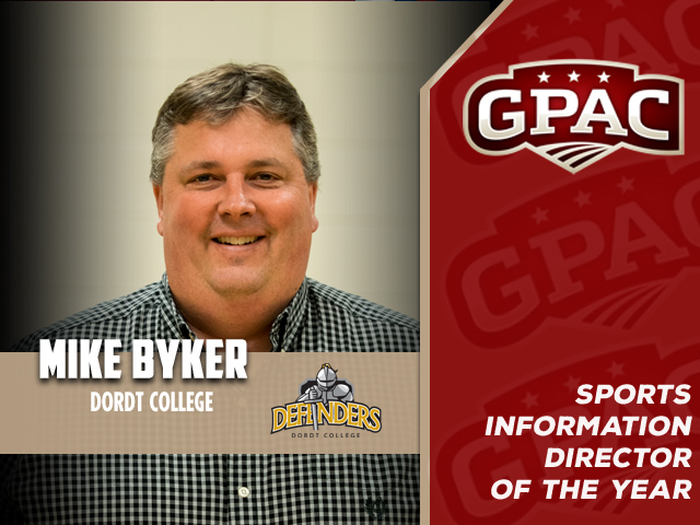 Photo for Dordt's Byker Named GPAC Sports Information Director-of-the-Year